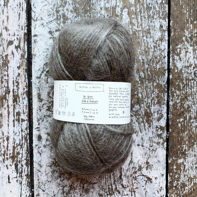 Le Gros Silk & Mohair Biches & Bûches Yarn Le Cashmere Light Grey