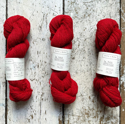 Le Petit Lambswool Biches & Bûches Yarn Le Medium Red