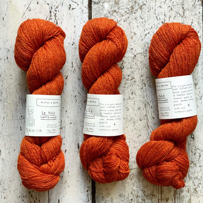 Le Petit Lambswool Biches & Bûches Yarn Le Petit Dark Orange Grey