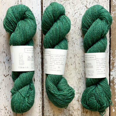 Le Petit Lambswool Biches & Bûches Yarn Le Petit Forest Green