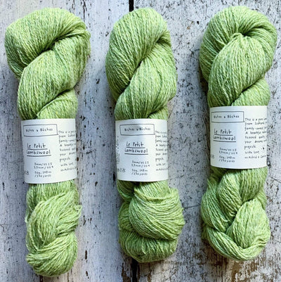Le Petit Lambswool Biches & Bûches Yarn Le Petit Light Green
