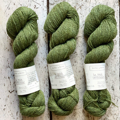 Le Petit Lambswool Biches & Bûches Yarn Le Petit Medium Green Grey