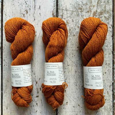Le Petit Lambswool Biches & Bûches Yarn Le Petit Soft Orange Brown