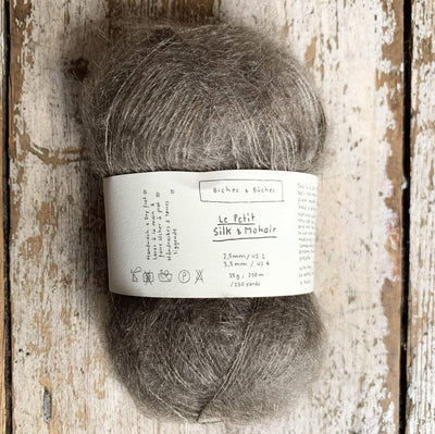 Le Petit Silk & Mohair Biches & Bûches Yarn Grey Brown Le Petit Mo