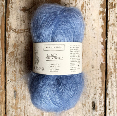 Le Petit Silk & Mohair Biches & Bûches Yarn Light Blue Le Petit Mo
