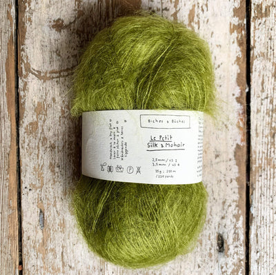 Le Petit Silk & Mohair Biches & Bûches Yarn Medium Green Le Petit Mo
