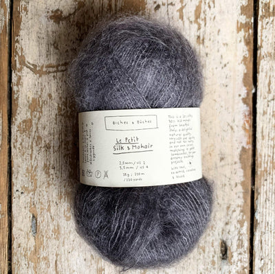 Le Petit Silk & Mohair Biches & Bûches Yarn Medium Grey Le Petit Mo