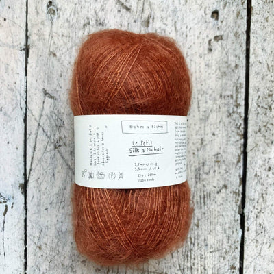 Le Petit Silk & Mohair Biches & Bûches Yarn Red Brown Le Petit Mo / In Stock