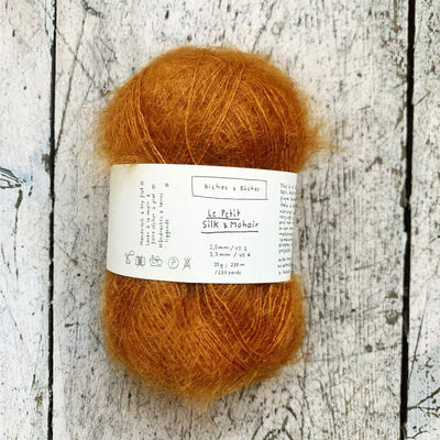 Le Petit Silk & Mohair Biches & Bûches Yarn Soft Orange Brown Le Petit Mo / In Stock