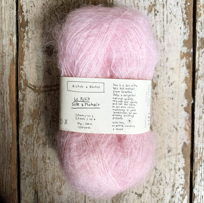 Le Petit Silk & Mohair Biches & Bûches Yarn Very Light Pink Le Petit Mo