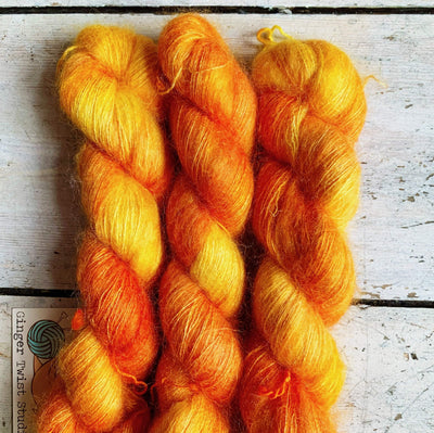 Leading Lady Lace Ginger Twist Yarn Melon Balls On Fire