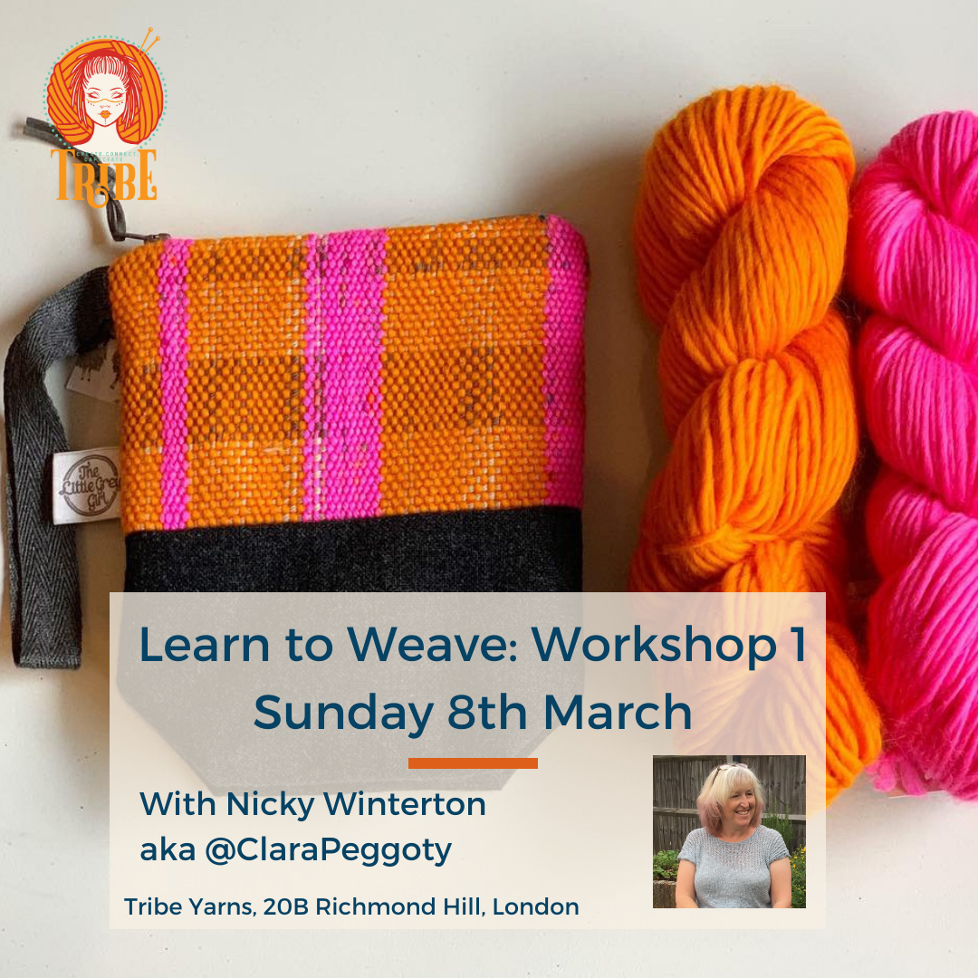 Learn to Weave: Workshop 1, Sunday 8th March tribeyarns Event