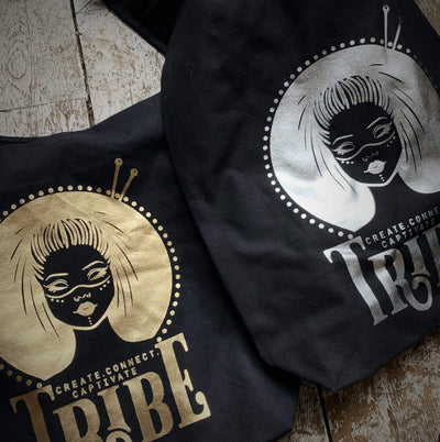 Limited Edition BLACK & FOIL Tribe Canvas Sling Bag tribeyarns Bags & Cases