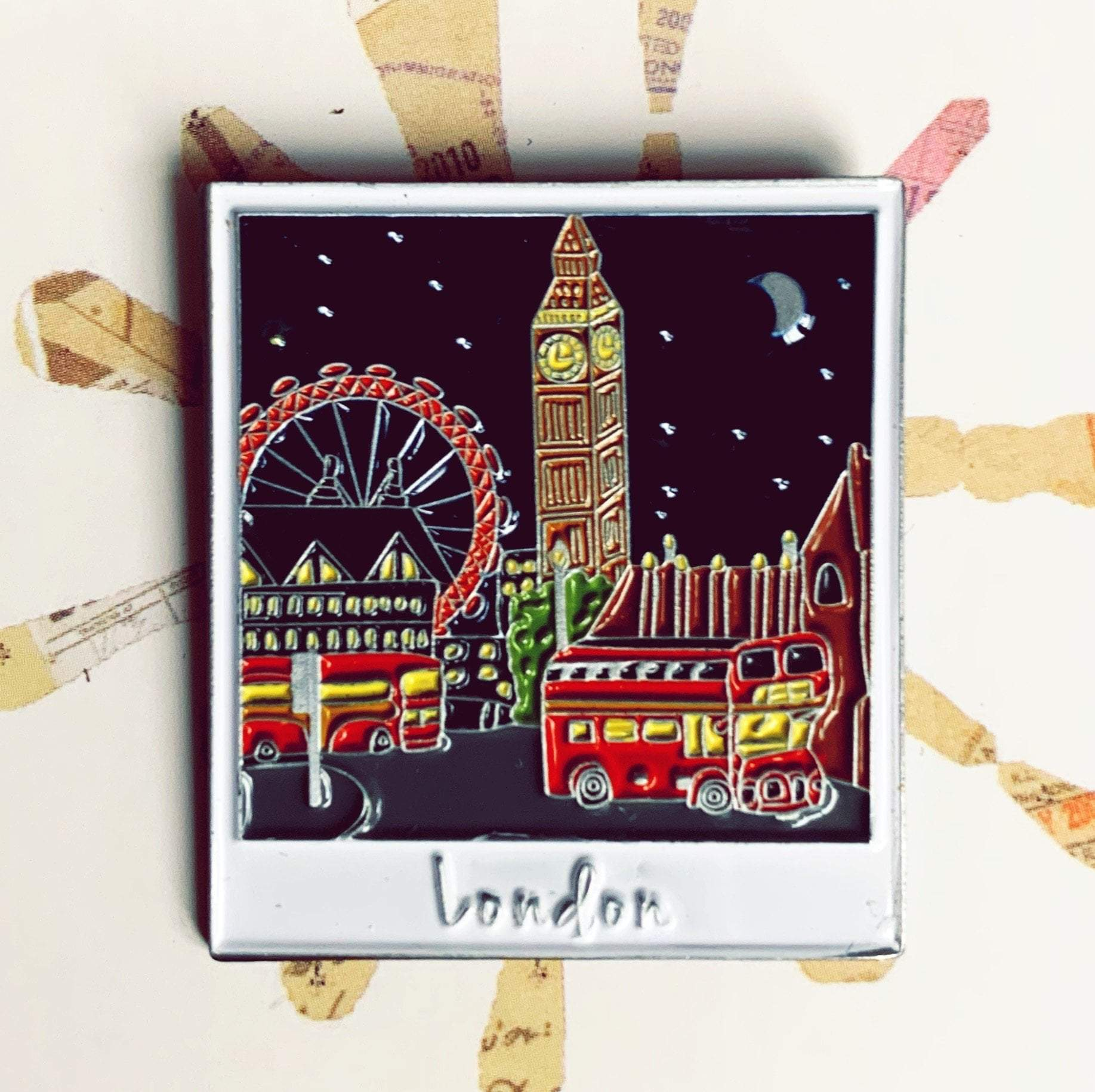 London Skyline Enamel Pin Hartiful Pins & Needles