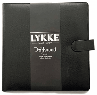 "LYKKE Driftwood 10"" Straight Needle Set - Black LYKKE Knitting Needles"