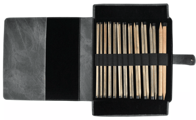 "LYKKE Driftwood 14"" Straight Needle Set - Black LYKKE Knitting Needles"