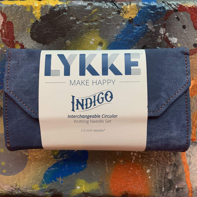 "LYKKE Driftwood Interchangeable 3.5"" Set LYKKE Knitting Needles Indigo"