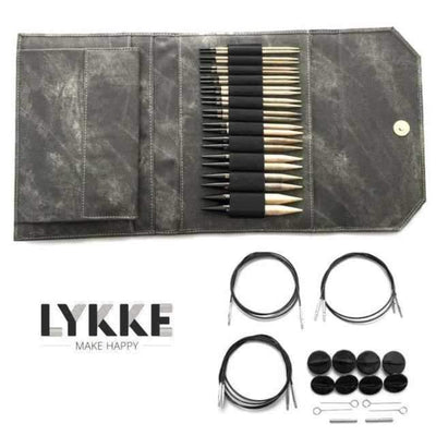 "LYKKE Driftwood Interchangeable 5"" Set LYKKE Knitting Needles"