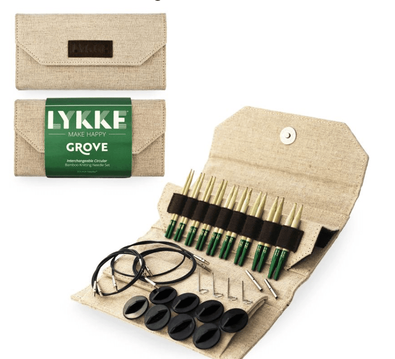 "LYKKE Grove Bamboo Interchangeable 3.5"" Set LYKKE Knitting Needles"