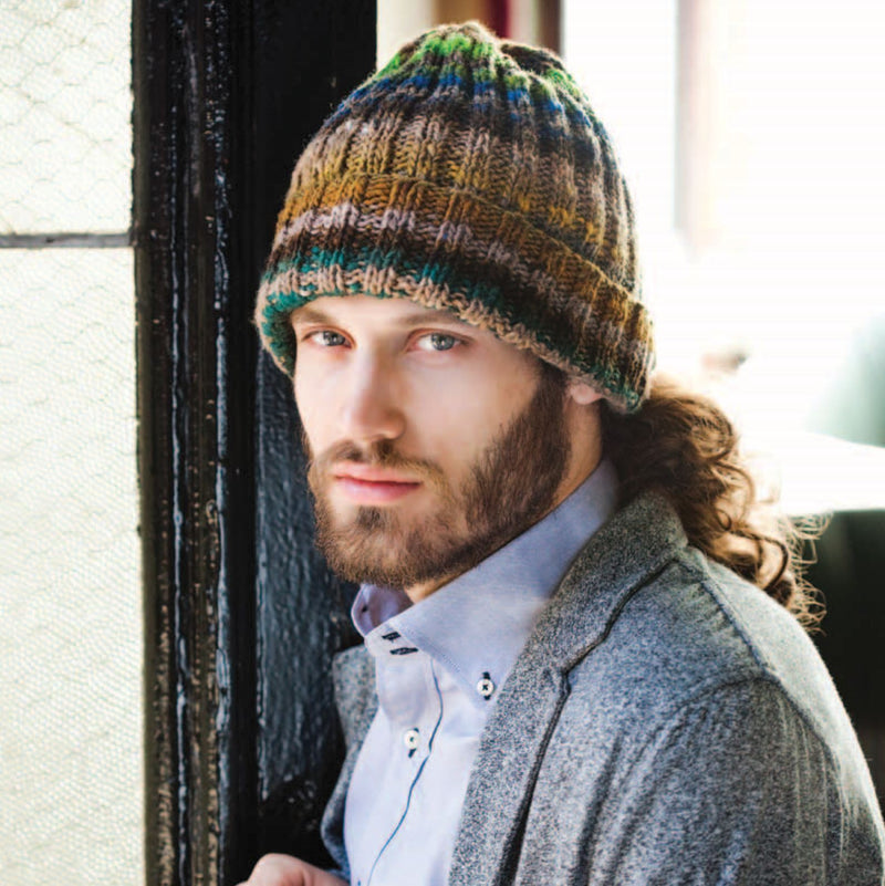 Man's Ribbed Hat Pattern by Noro Noro Pattern