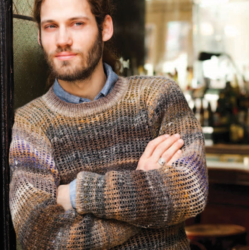 Man's Ribbed Sweater Pattern by Noro Noro Pattern