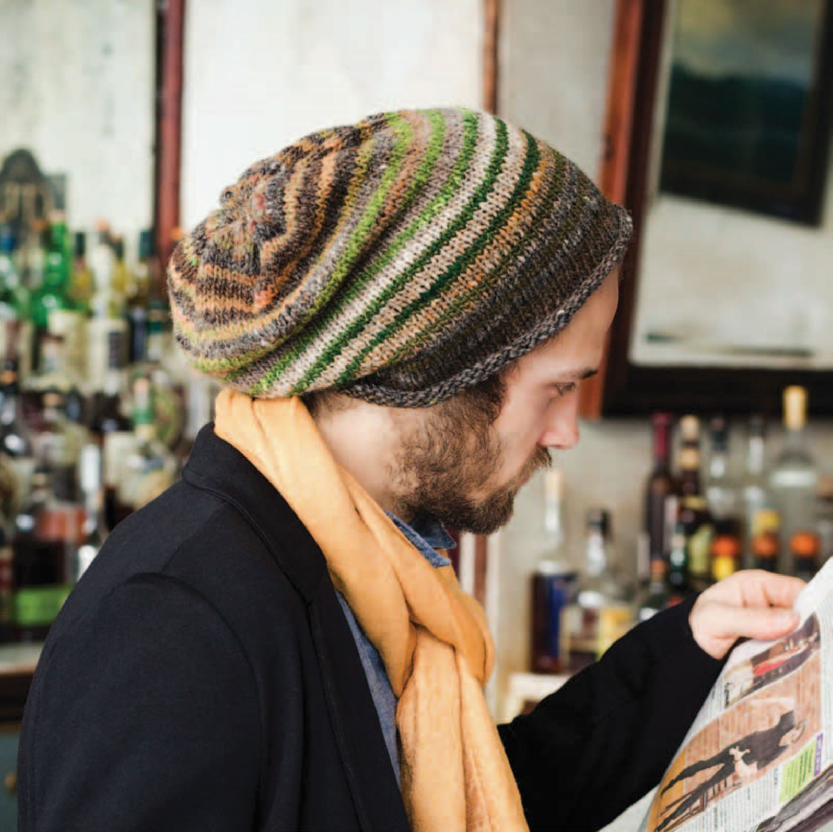 Man's Slouchy Hat Pattern by Noro Noro Pattern