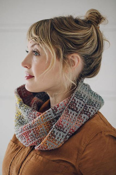 Montana Mountain Cowl Pattern by Andrea Mowry tribeyarns Pattern