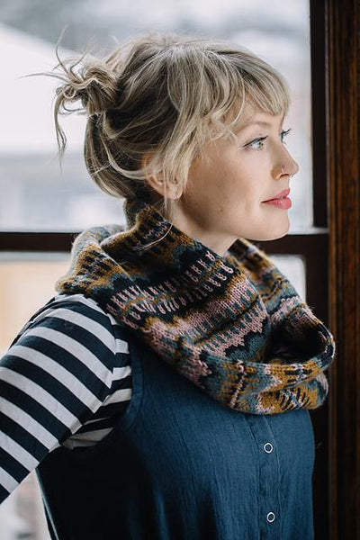 Moonwake Cowl Pattern by Andrea Mowry tribeyarns Pattern