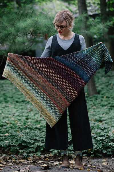 Nightshift Shawl Pattern einrum Pattern