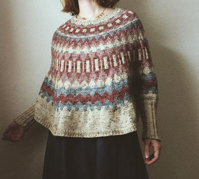 Ninilchik Swoncho Pattern by Caitlin Hunter tribeyarns Pattern