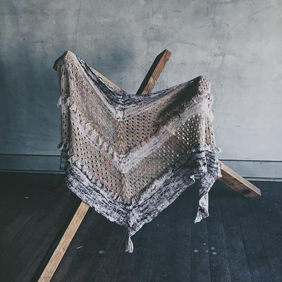 Ohra Shawl Pattern by Caitlin Hunter tribeyarns Pattern