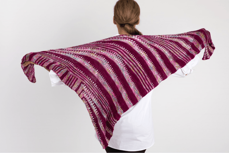 Optical Triangle Shawl Pattern Artyarns Pattern