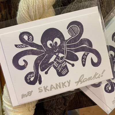 PaperGrotto Handmade Greeting Card tribeyarns Gift Card No Skanky Hanks