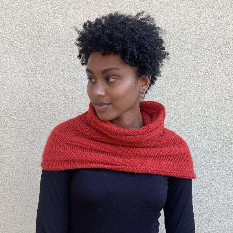 Parkway Cowl Pattern by Clinton Hill Cashmere Clinton Hill Cashmere Pattern
