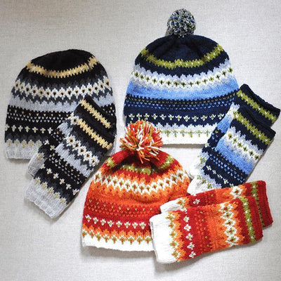 Phoebe Hat & Mitts Kit Blue Sky Fibers Kits & Combos