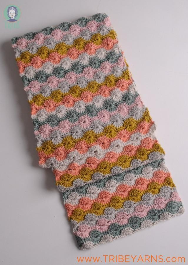 Pinwheel Scarf CROCHET Pattern Mrs Moon Pattern