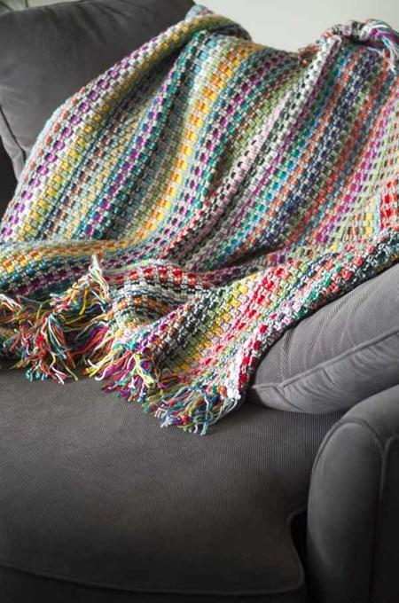 Pixel Blanket Crochet Pattern tribeyarns Pattern