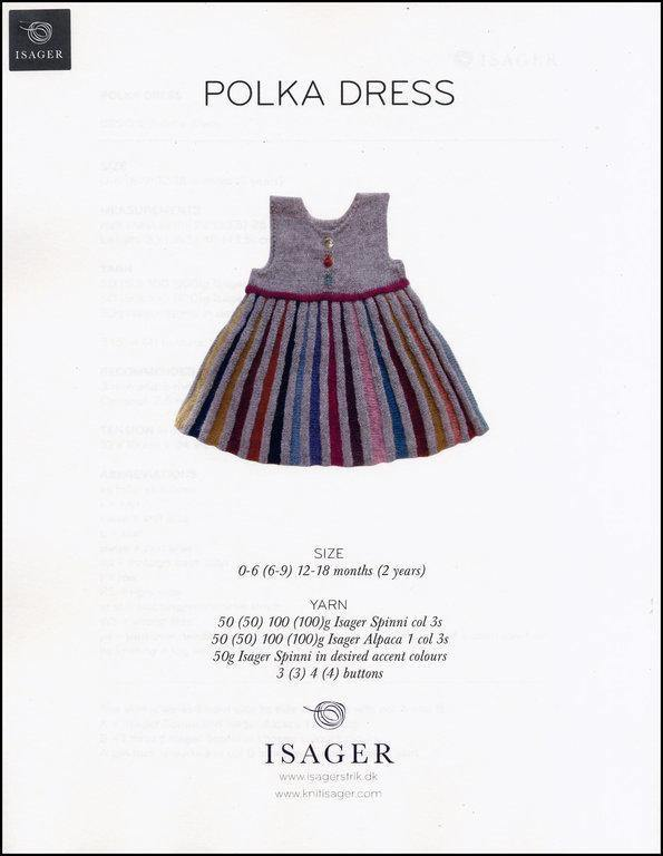 Polka Dress Pattern Isager Pattern