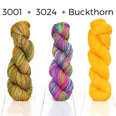 Positive Vibrations Shawl Kit Urth Yarns Kits & Combos 3001 3024 Buckthorn