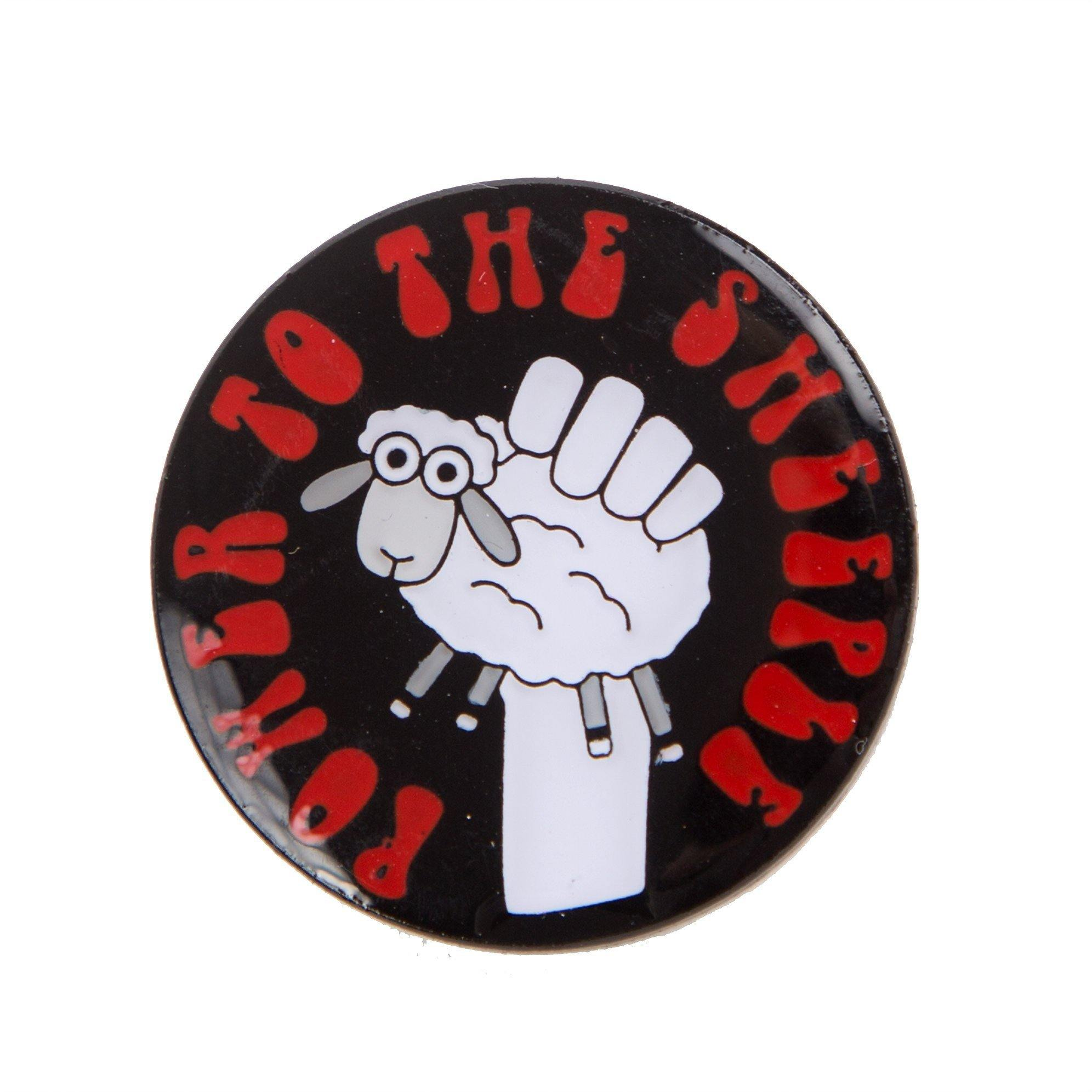 Power to the Sheeple Pin Badge Sue Stratford Pins & Needles