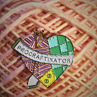 Procraftinator Enamel Pin Hartiful Buttons & Fasteners