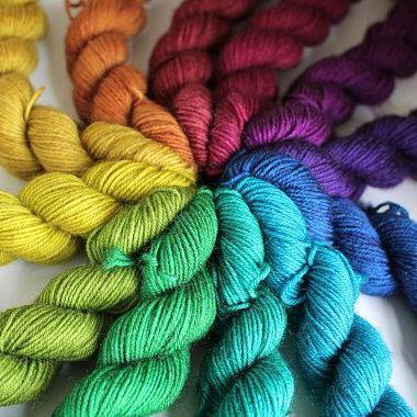 Rainbow Mini Skein Set RiverKnits Yarn Jewel Rainbow