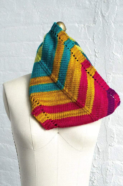 Rainbow Road Step Cowl Pattern Manos del Uruguay Pattern