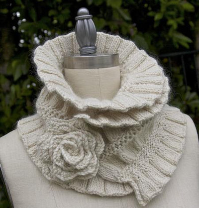 Ruffled & Ruched Scarf Pattern tribeyarns Pattern