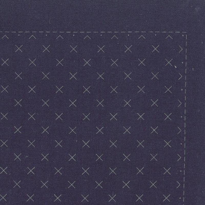 Sashiko Sampler - Hitomezashi Morning Glory Navy Olympus Other Stuff