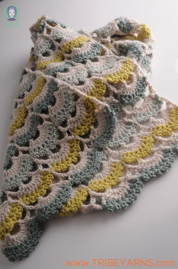 Seashore Lace Scarf CROCHET Pattern Mrs Moon Pattern