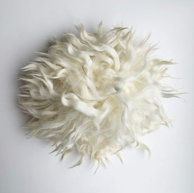 Sheepskin Press On Pom Pom tribeyarns Pom Pom Cream Cloud