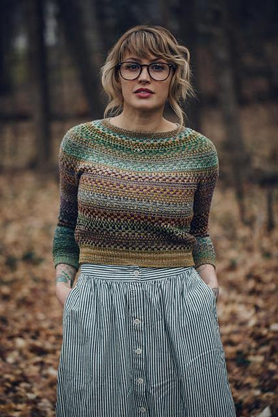 Shifty Sweater Pattern by Andrea Mowry tribeyarns Pattern