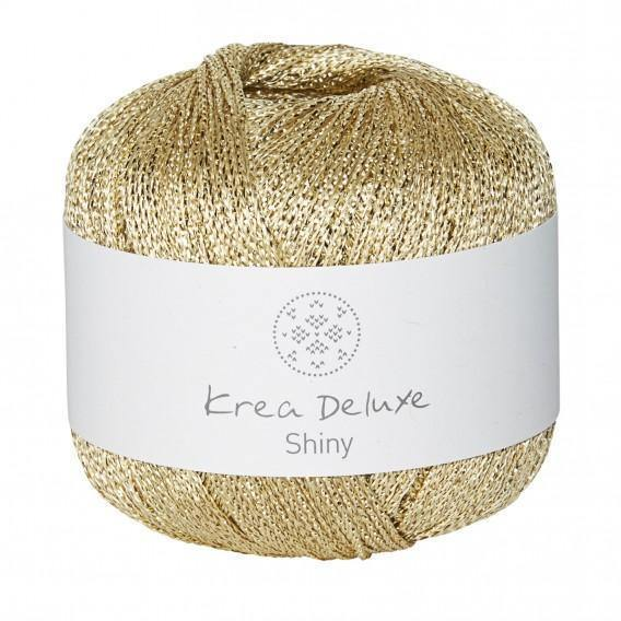 Shiny Krea Deluxe Yarn Shiny White Gold