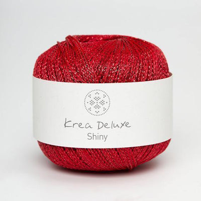 Shiny Krea Deluxe Yarn Shiny Red